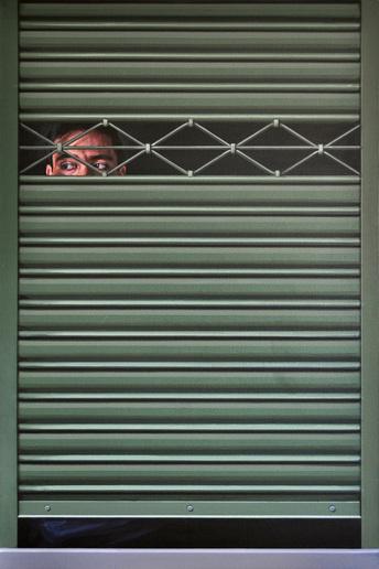 Persiana y personas, Acrílico sobre lienzo, painting by Pablo Guzman, 2010