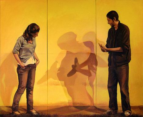 Sombra, Acrílico sobre lienzo (tríptico), painting by Pablo Guzman, 2009