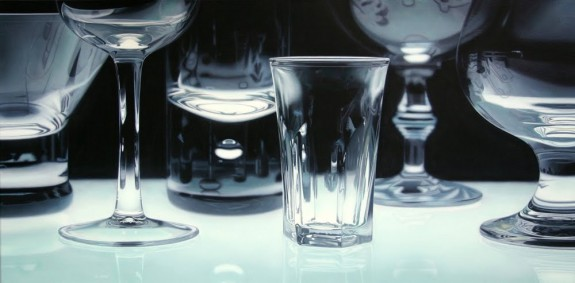 Vessels, acrylic on canvas, by Jason de Graaf