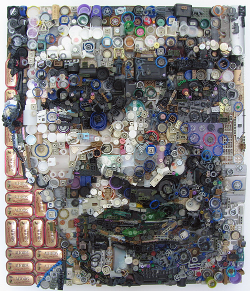 Vince 2008 Assemblage on board by Zac Freeman