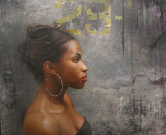 Grace in Profile, Oil on wood panel, painting by David Jon Kassan