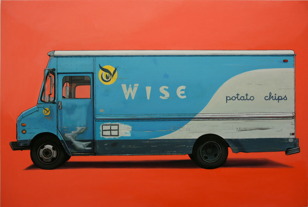 "Wise Chip, Oil on Panel, 16"" x 24"" by Kevin Cyr"