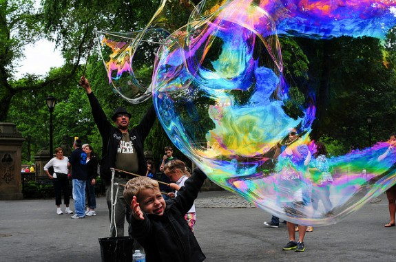 The magic of bubbles, New York, NY, photograph by Jeff Colen