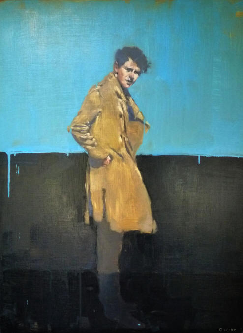 Man in Jacket, oil on canvas by Michael Carson