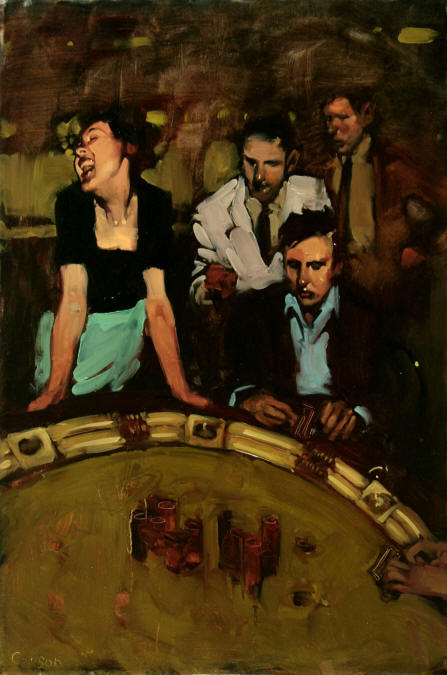 Pokerface, oil on canvas by Michael Carson