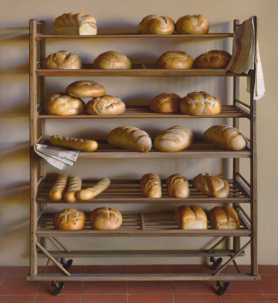 Bread Rack, oil on canvas, by Jeffrey T. Larson