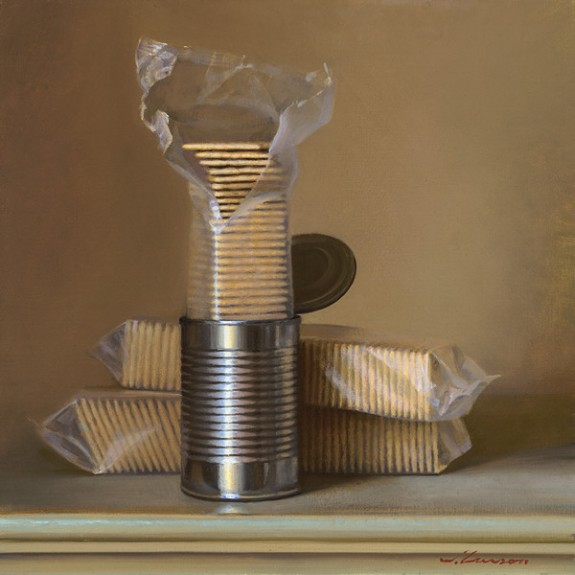 Canned Crackers, oil on canvas, by Jeffrey T. Larson