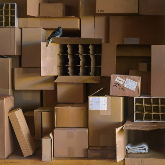 Open Box, oil on canvas, by Jeffrey T. Larson