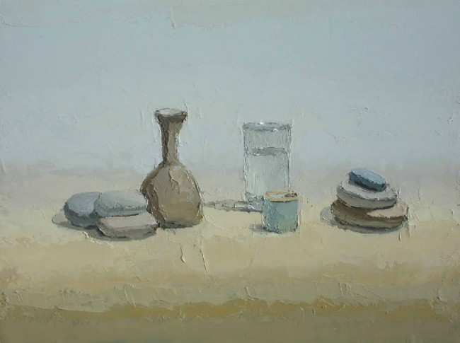 Small Pitcher, oil on panel by Brian Blackham