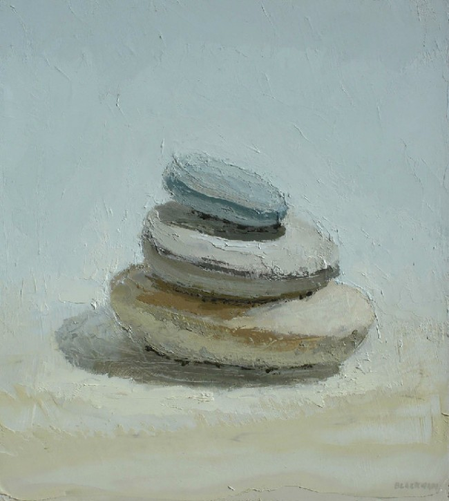Stack, oil on panel by Brian Blackham