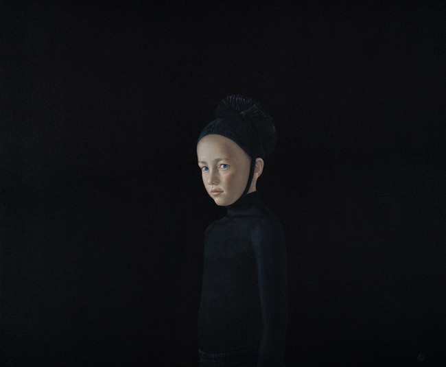 Black Collection (Boy) detail, natural pigments and acrylic resin on canvas, by Salustiano