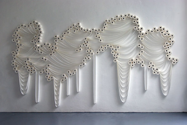 Trans Layers 1, 2010 Wall Installation by Sakir Gokcebag