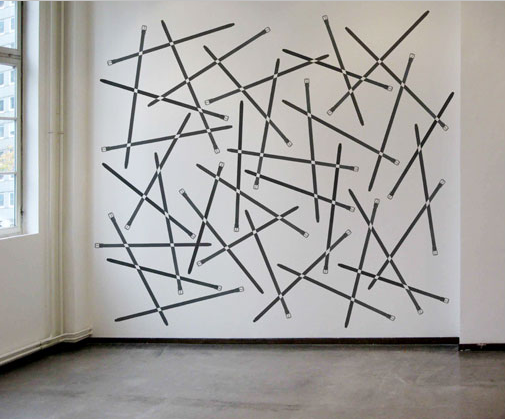 o.T., 2011 Wall Installation by Sakir Gokcebag