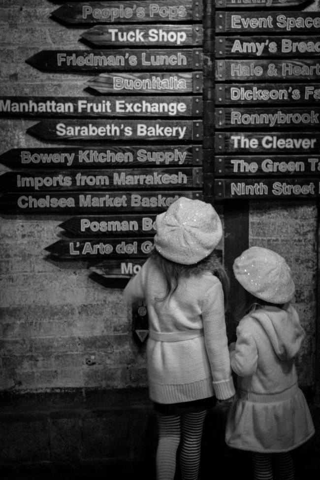 At the Crossroads. My money is on Marrakesh, Chelsea Bakery, New York City, photograph by Ric Camacho