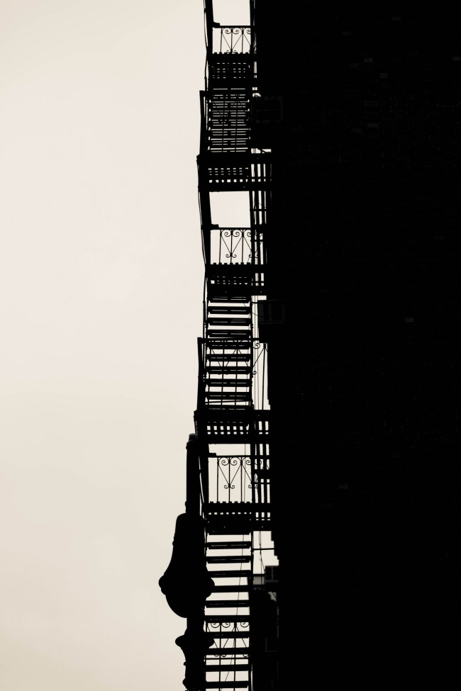 Stairway to Heaven, East 81st Street, Upper East Side, New York City, photograph by Ric Camacho