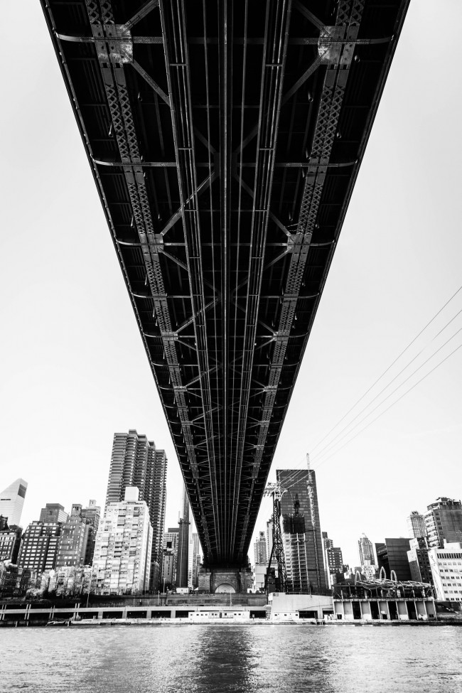 Under the Queensboro Bridge #1, photograph by Ric Camacho