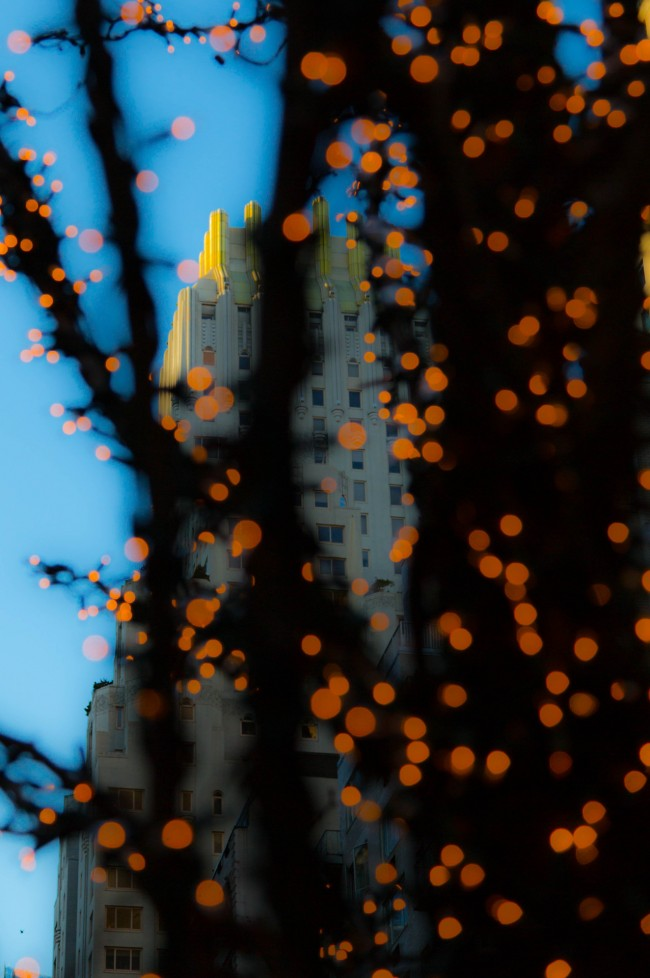 Winter Lights, West 58th Street #3 New York City, Photograph by Ric Camacho