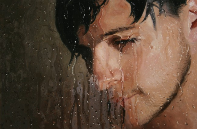 Nod, oil on panel, 2009 by Alyssa Monks