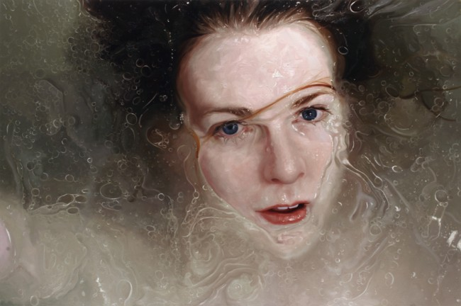 Stare, oil on linen, 2010 by Alyssa Monks