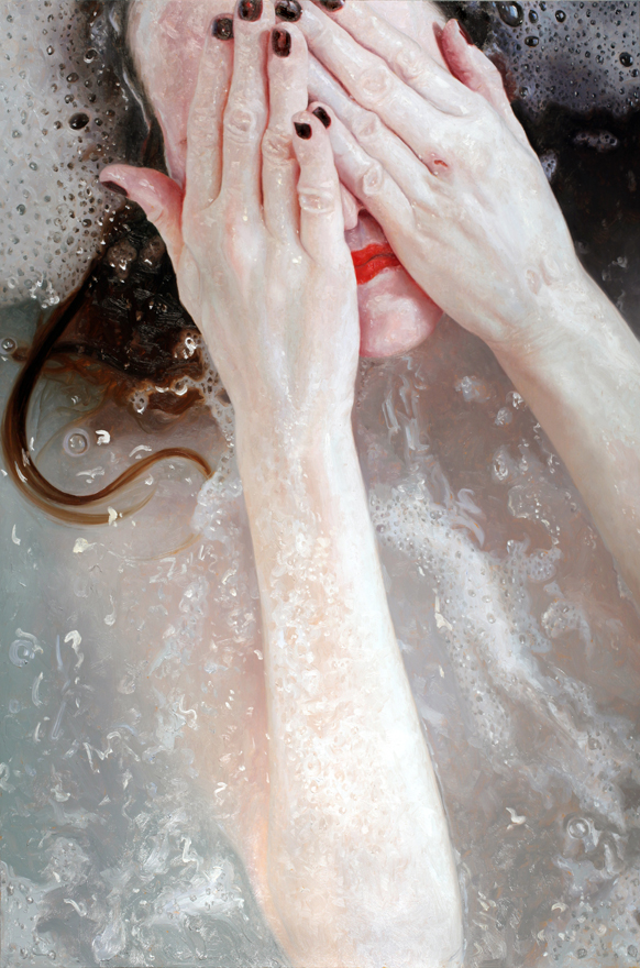 Tell, oil on panel, 2011 by Alyssa Monks