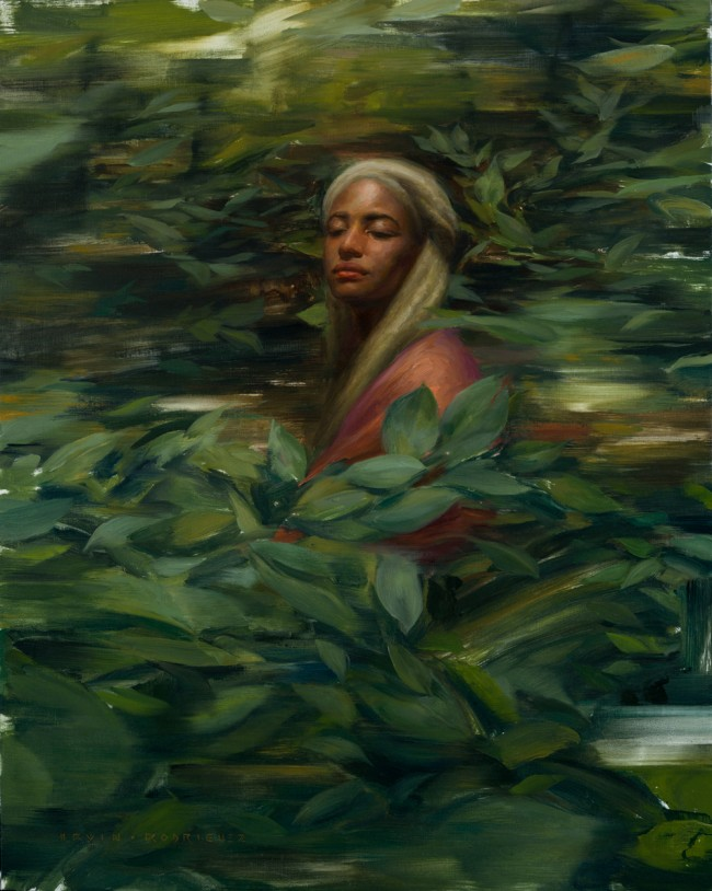 Irvin_Rodriguez_Among_The_Leaves_2015_Oil_on_linen
