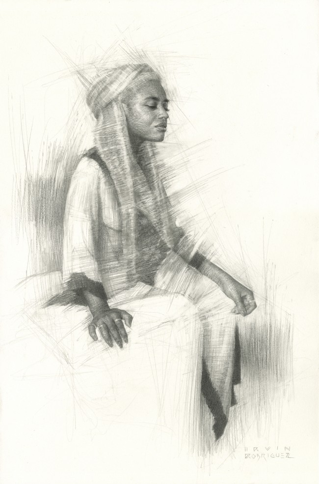 Irvin_Rodriguez_Study_for_Lorelei_2015_Graphite_on_Paper