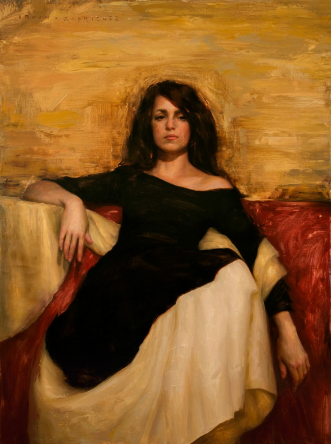 Irvin_Rodriguez_Woman_in_Black_2015_Oil_on_Linen